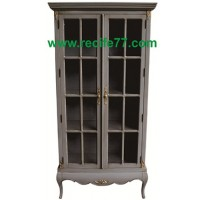 Cabinet Glass Door 4 Shelves 170 GRA Finish